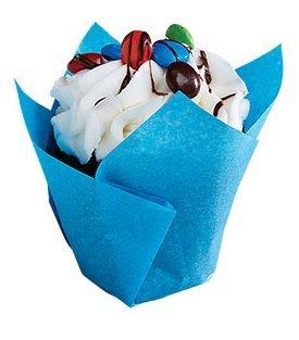 CakeSupplyShop Blue Aqua Elegant Tulip Cupcake Liner Cups