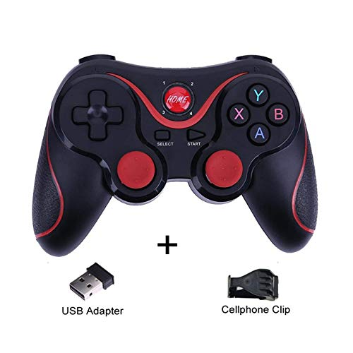DZSF T3 Wireless Joystick Gamepad Game Controller Bluetooth BT3.0 Joystick for Mobile Phone Tablet TV Box Holder iOS Android,D