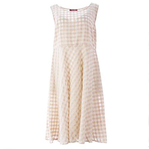 max-mara-studio-womens-pioggia-checkered-a-line-dress-sz-large-ivory