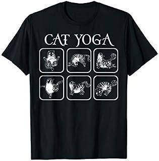 Cute Cat Practing Yoga Gift For Men Women T-shirt | Size S - 5XL