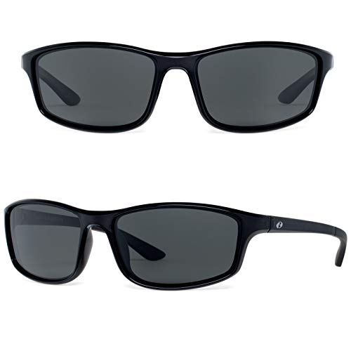 Bnus Paladin sunglasses for men corning glass lens Running shades italy made (Black/Grey lens, ()