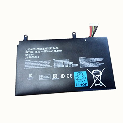 New Replacement 11.1V 6830mAh 75.81Wh Laptop Battery 961TA010FA GNS-I60 for GIGABYTE P35N P35W P35X P37K P57X by Weijie Energy
