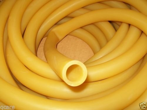 USA Premium Store 1'' I.D x 1/8'' wall x 1 1/4'' O.D Latex Rubber Tubing Amber Heavy Duty by Unknown