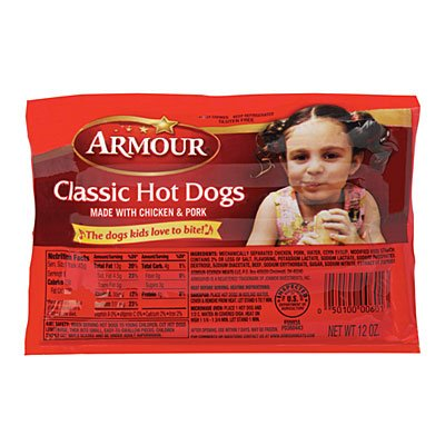 - ARMOUR FRANKS HOT DOGS CLASSIC 12 OZ PACK OF 3