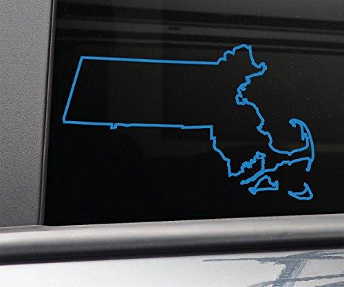 (Nashville Decals Massachusetts Vinyl Decal Laptop Car Truck Bumper Window Sticker, 6.5