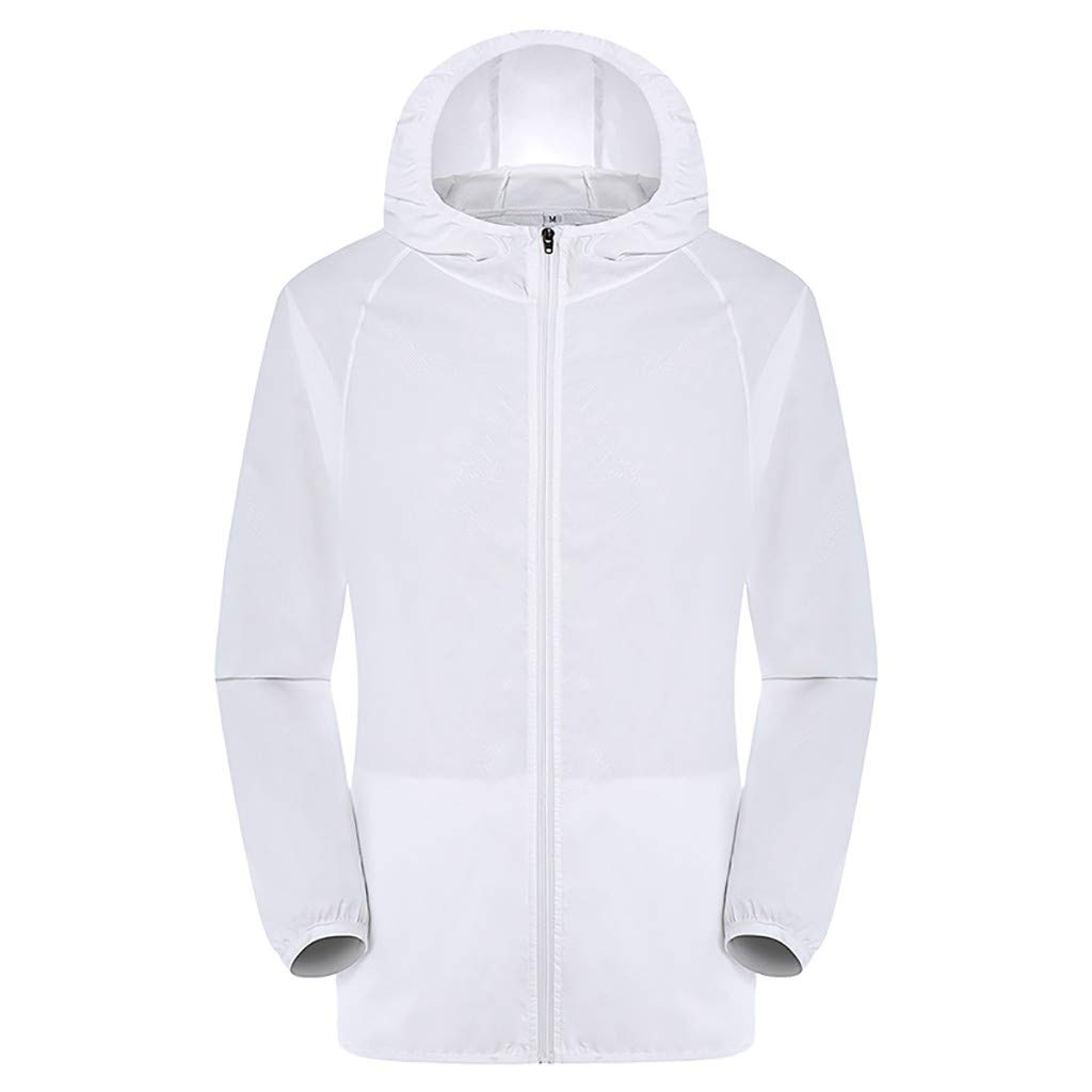 Tantisy ♣↭♣ Workwear Equipped Cooling Jacket Fan Pack for Summer Outdoors Air-Conditioned Clothes Unisex Available White