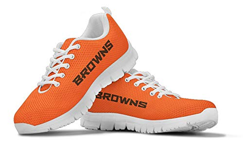 Cleveland Browns Themed Casual Athletic Running Shoe Mens Womens Sizes Dawg Pound Football Apparel and Gifts for Men Women Fan Merchandise (Mens, Mens US11 (EU45))