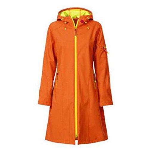 In Bicicletta Giacche lunghezza Peluche Mountain Lady Outdoor Mid Trekking Softshell Campeggio Viaggi Sottile Impermeabile Wear Orange wXHH7OUq