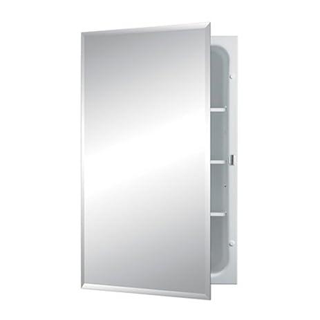 jensen 1459mod horizon frameless singledoor recessed medicine cabinet