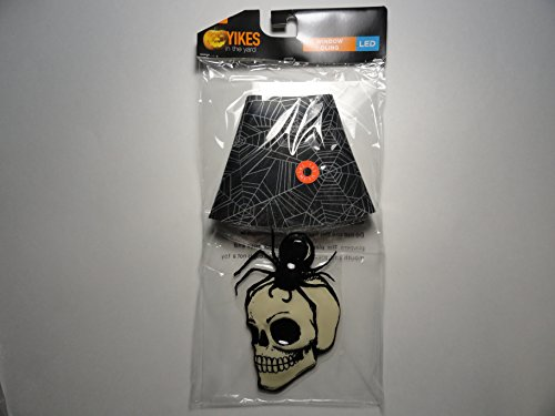Skull and Spider Halloween LED Window Cling with 2 foam adhesive tabs on back (batteries may need exchanging) ()