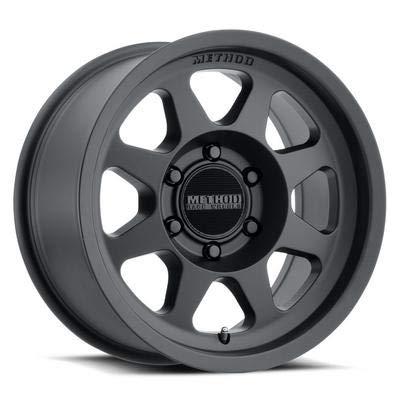 Black Wheels Painted - Method Race Wheels MR701 Matte Black Wheel with Painted (17 x 8.5 inches /6 x 5 inches, 0 mm Offset)
