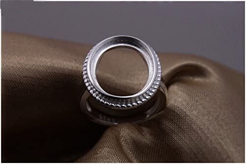 MFMei 1pc 6-13mm Antique Style Round Ring Blank Adjustable Thai Sterling Silver Ring Base (JT003T) (11mm)