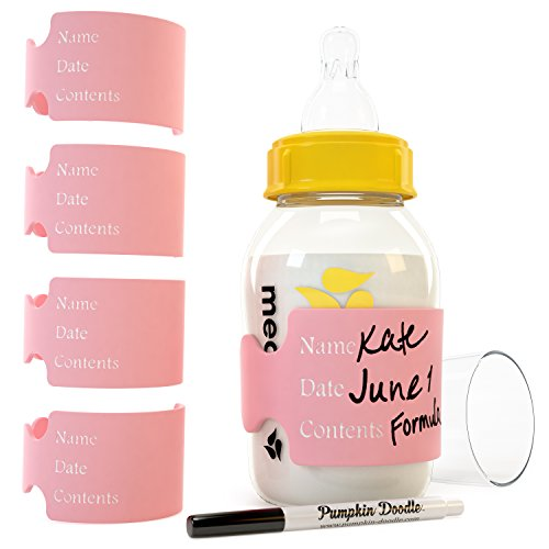The Original Write & Reuse Baby Bottle Labels for Daycare - Available in 11 Colors ()