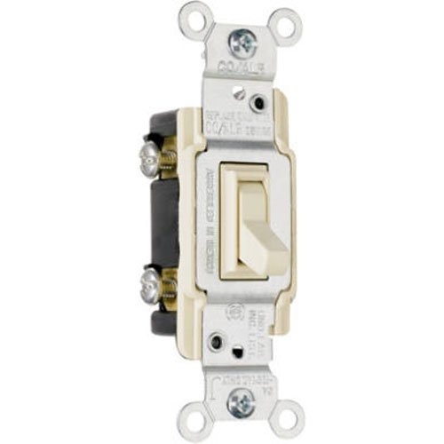 Aluminum 3 Way (Pass & Seymour 663IGCACC10 Grounded Copper/Aluminum 3-Way Toggle Switch, 15-Amp, 120-volt)