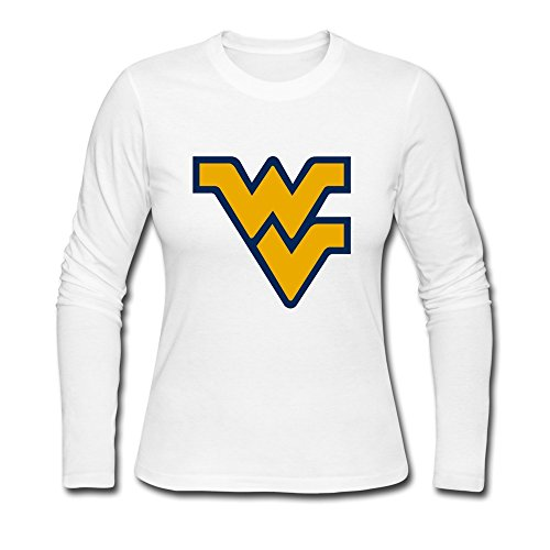 Baby Cute Brand NCAA West Virginia Flying WV Logo Long Sleeve T-Shirt White US Size L