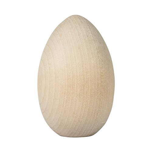 Unpainted Wooden Eggs - For Easter, Crafts and more - 4-1/4 x 2-3/4 - Bag of 2 - by Craftparts Direct