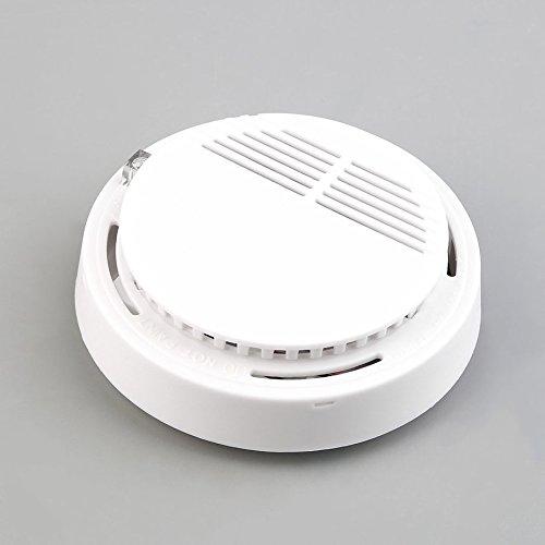 5pcs Smoke Sensor Detector Alarm,High Sensitivity First Alert Smoke Detector,Cordless Home Security Monitor Fire Alarms Smoke Detectors Fire Safety And Security Accessories
