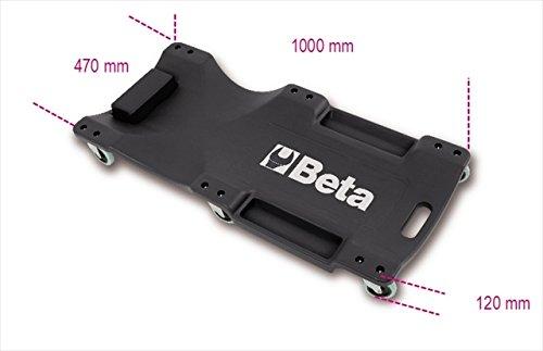 'Beta 3003 Creeper in plastica antiurto –  nero/arancione BETA Tools