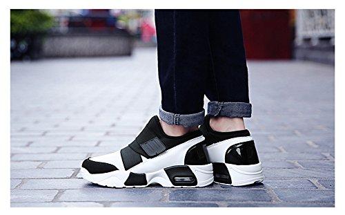 JiYe Mens Fashion Air Cushion Sneakers Mesh Casual Running Shoes White 0gAgCUFUd