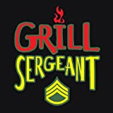 "Attitude Aprons Fully Adjustable ""Grill Sergeant"" Apron, Black"