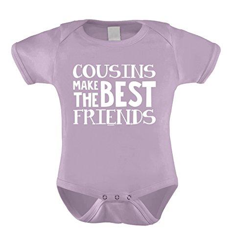 Cousins Make The Best Friends Infant Bodysuit (Light Purple, 6 Months) (Best Friends Bodysuit)