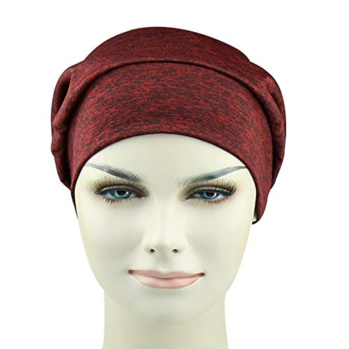 Silky Satin Lined Slouchy Sleep Cap Slap Beanie Hat Frizzy Headwear Breathable Bamboo Viscose Hats by FocusCare (Image #2)