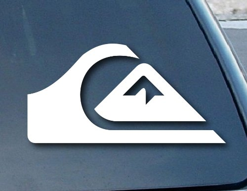 "spdecals Quiksilver Surf Car Window Vinyl Decal Sticker 4"" Wide (Color: White)"