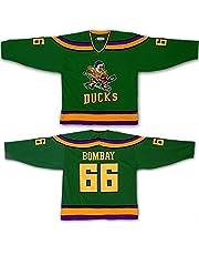Yajun Gordon Bombay #66 Mighty Ducks Película Camisetas Hockey Jersey sobre Hielo NHL Hombre Ropa Respirable T-Shirt de Manga Larga