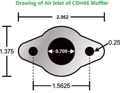 Gas Motor Kit bikeGas Motorized Bicycle CDHPOWER CDH66 Muffler Exhaust