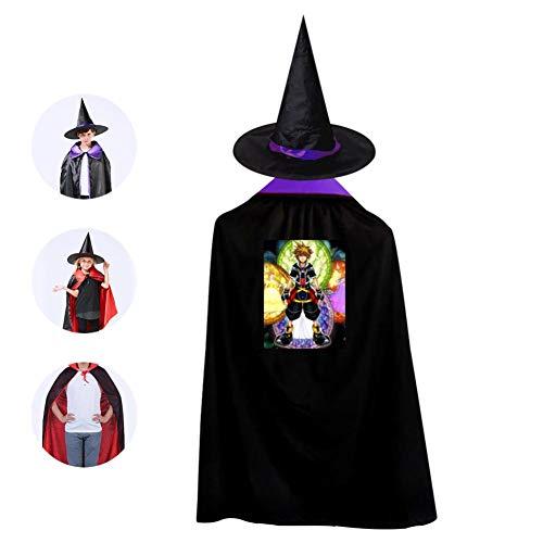 Childrens' Halloween Costume Kingdom-Hearts Cloak Cool Kids Wizard Hat Cosplay For Boys&Girls