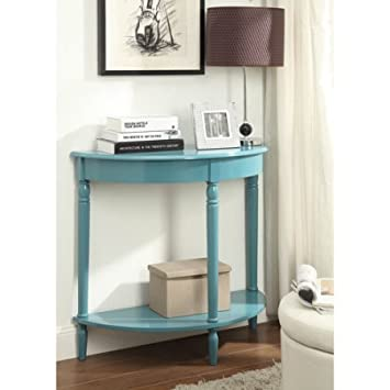Semicircle Entryway Table, Bottom Shelf, Extra Storage, Made Of Wood,  Traditional Style