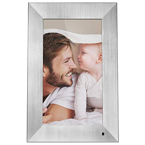 NIX Lux 13-Inch Digital Photo Frame X13B Metal (Non-WiFi) - Wall-Mountable Digital Frame with 1920x1080 FHD Display, Motion Sensor, USB and SD Card Slots and Remote Control, 8 GB USB Stick Included
