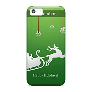 Premium Happy Holidays December Heavy-duty Protection Case For Iphone 5c