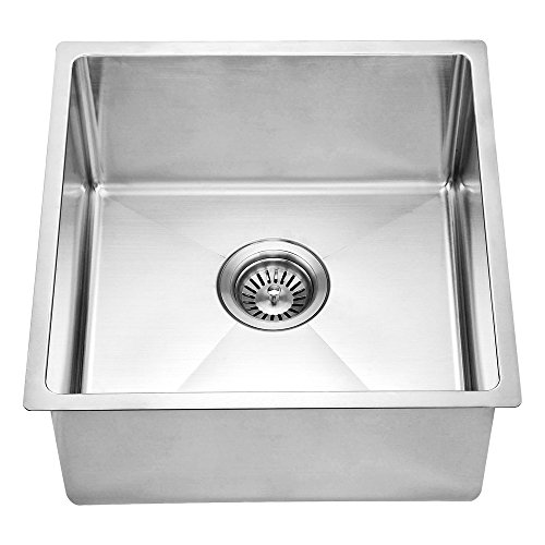 Dawn BS161609 Undermount Single Bowl Bar Sink, Polished Satin