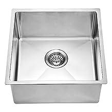 Dawn BS161609 Undermount Single Bowl Bar Sink, Polished Satin