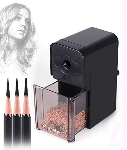 Sketch Pencil Sharpener, Manual Pencil Sharpener, Dedicated to Art Students, Adjustable Thickness, with a set of Replaceable Blades (Replaceable Blades)