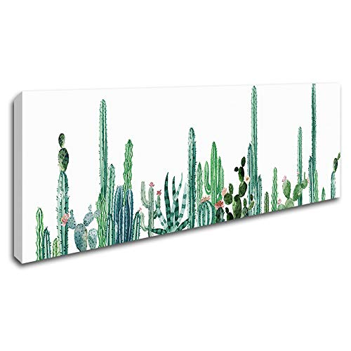 DVQ ART Cactus Poster Wall Art Green Plant Mural Decor Abstract Botanical Painting Framed Fern Artwork for Living Room Home Decorations 16