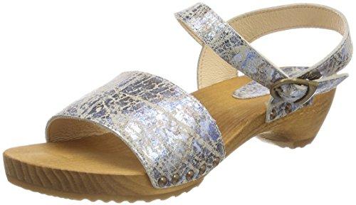 Sanita Donna Carrara Sandalo Con Cinturino Sandali Multicolore (cielo)