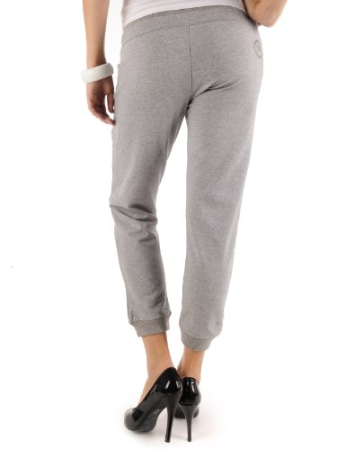 Donna grey Cotton Pinocchietto Pant Tg Stretch Melange Fornarina S Jordy 4qFw0Rp