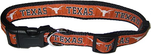 Pets First Collegiate Texas Longhorns Pet Collar, Medium