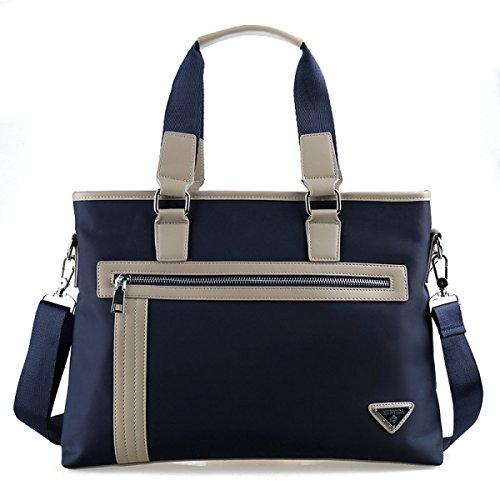Hombres De Negocios Ocio De Hombro Messenger Bag Documento De Ordenador Bolso De Gran Capacidad Oxford Tela Lienzo Bolso Blue