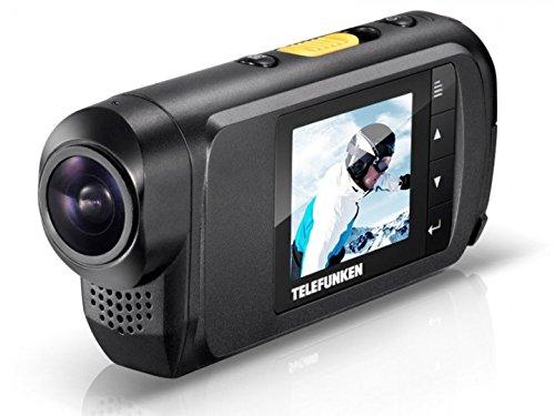 Telefunken FHD170/5 Full-HD Aktion Kamera (mit Helmhalterung und wasserdichtem Gehäuse, Motorrad - Kauftipp) FHD170/5 PURE