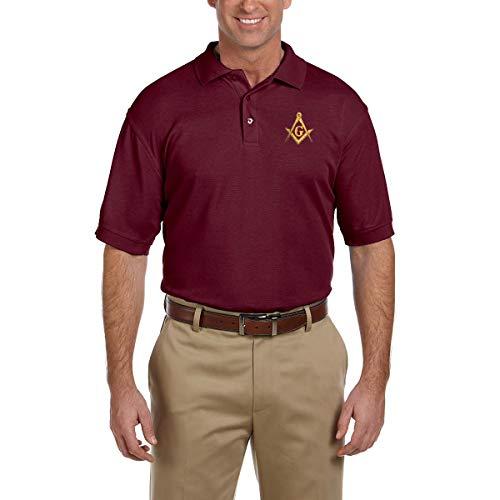 Square & Compass Embroidered Masonic Men's Polo Shirt - ()