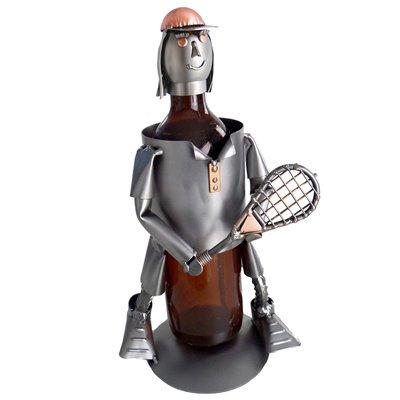 Tennis, Female, Wine Bottle Holder H&K Steel Sculpture
