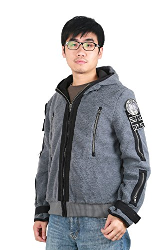 [Men's Outdoor Tactical Hoodie Jacket Coat Zipper Sweater Costume Fleece M] (Tf141 Costume)