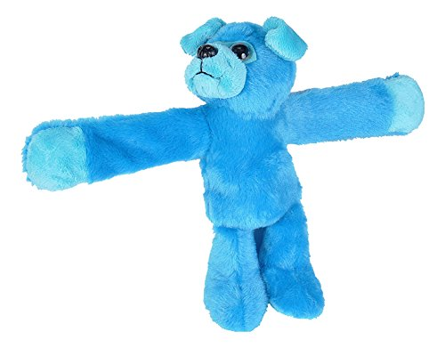 - Wild Republic Huggers Blue Pug Plush Toy, Slap Bracelet, Stuffed Animal, Kids Toys, 8 Inches