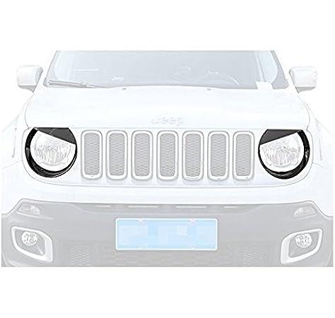 L/&U Cola 9pcs aleaci/ón de Aluminio de Oro del Coche de la Puerta Interior Etiqueta engomada del Emblema de Jeep Renegade 2016+,Oro