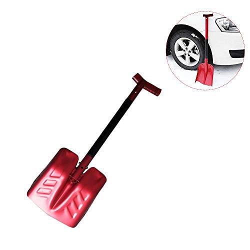 Per Newly Enhanced Type XL Aluminum Alloy Telescopic Snow Shovel Portable Shovel with Cutter Saw Car Snow Ice Scraper for Breaking Sawing Ice (Set Garden Tool Telescopic)