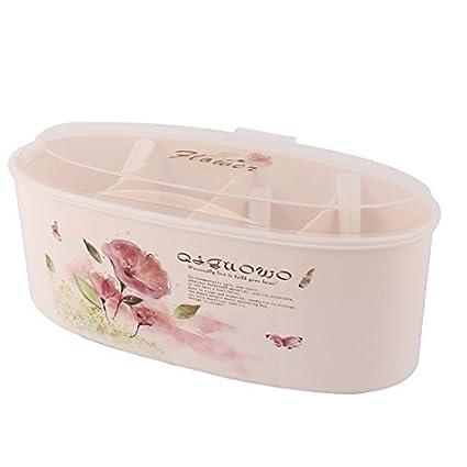 eDealMax plástico Domésticos de Cocina 4 compartimientos condimento Box Contenedor Condimentos Especias