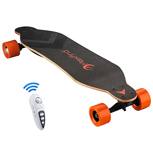 maxfind Electric Skateboard, Worlds Most Portable 1000W Dual Motors Electric Longboard 38 Inch